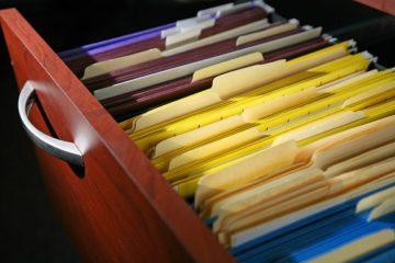 Documentos organizados e separados