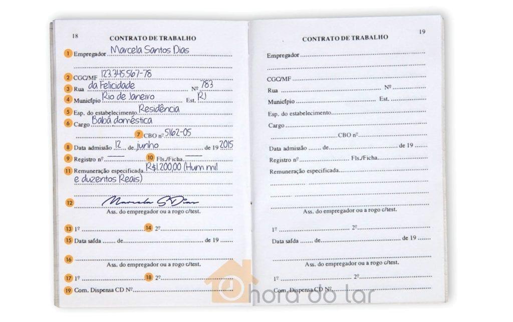 Assinatura da Carteira de Trabalho Retroativa Doméstica